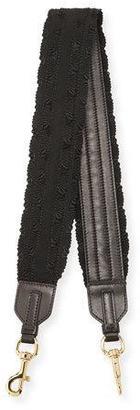 Salvatore Ferragamo Vara Lux Grosgrain Strap for Handbag, Nero $375 thestylecure.com