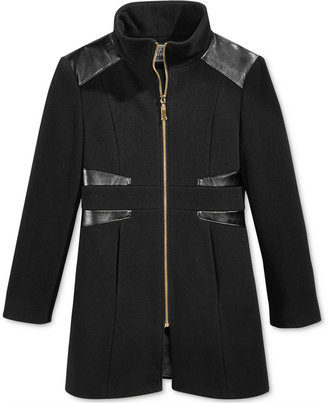 S. Rothschild Girls' Faux-Leather-Detail Coat $89.98 thestylecure.com