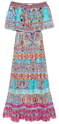 Camilla Printed silk dress