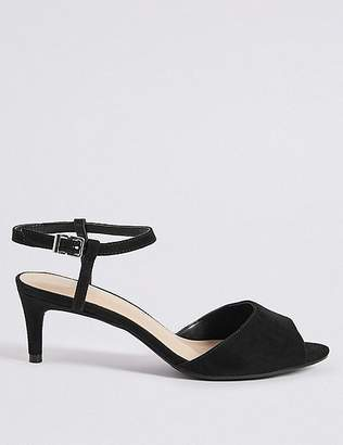 Marks and Spencer Wide Fit Kitten Heel Sandals
