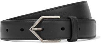 Saint Laurent Leather Belt - Black