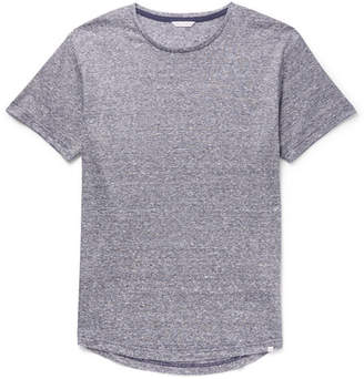 Orlebar Brown Ob-t Slim-fit Striped Slub Linen-jersey T-shirt - Navy