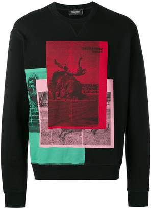 DSQUARED2 Dance print sweatshirt
