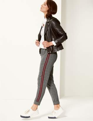 Marks and Spencer Checked Slim Leg Trousers