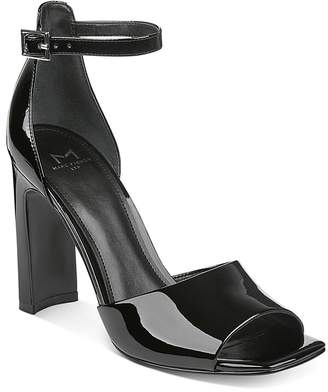 Marc Fisher Harlin Patent Leather Ankle Strap Sandals