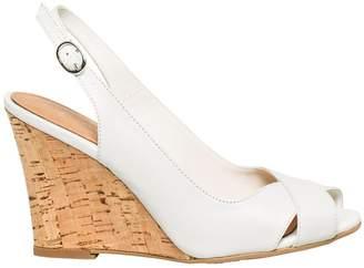 Le Château Women's Leather Slingback Wedge Sandal