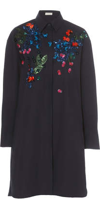 DELPOZO Sequin-Embellished Cotton Dress