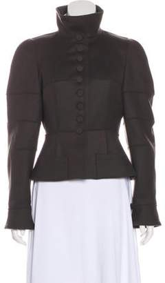Fendi Fleece Wool Military Jacket w/ Tags Olive Fleece Wool Military Jacket w/ Tags