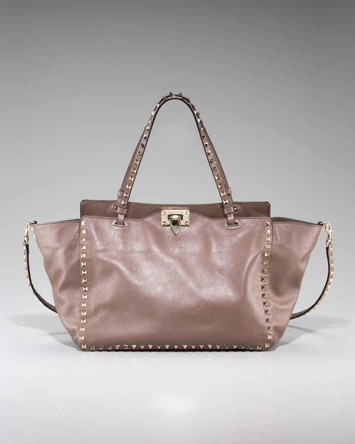 Valentino Rockstud Leather Tote