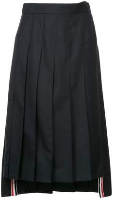 Thom Browne pleated midi skirt