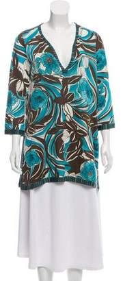 Loro Piana Printed Silk Tunic