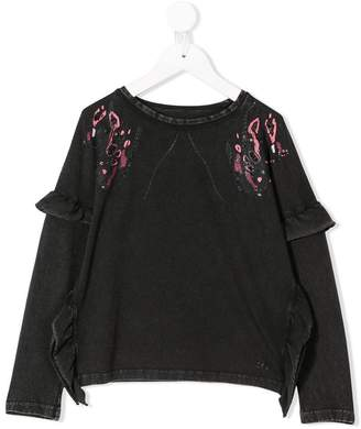 John Galliano printed glitter sweatshirt
