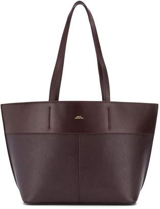 A.P.C. engraved logo tote