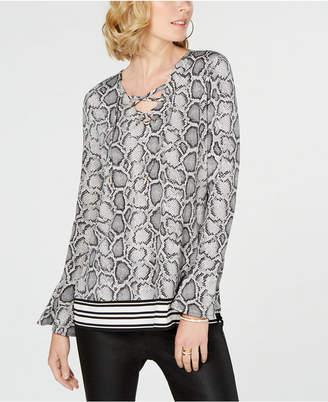 Michael Kors Lace-Up Tunic
