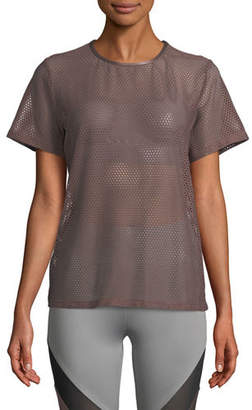 Koral Activewear Size Up Open-Mesh Tee