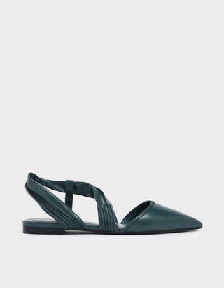Charles & Keith Ruched Strap Covered Flats