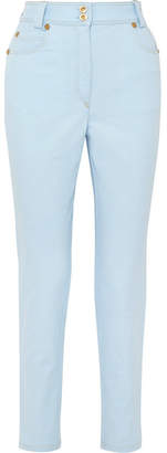 Versace High-rise Slim-leg Jeans - Light blue