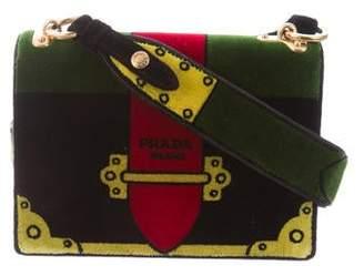 ff8cb6af0f3c Prada Cahier Trompe l Oeil Velvet Shoulder Bag