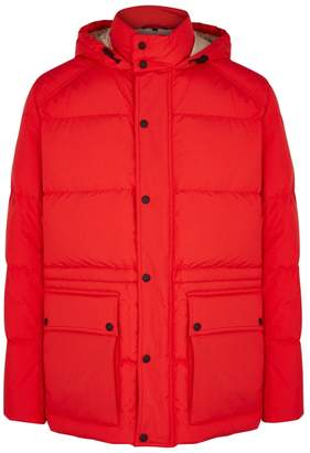Belstaff Tallow Red Quilted Shell Jacket