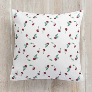 Cherries Self-Launch Square Pillows