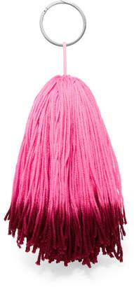 Calvin Klein Leather-trimmed Wool Keychain - Pink