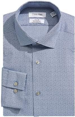 Calvin Klein Slim-Fit Printed Dress Shirt