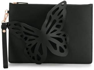 Sophia Webster butterfly embellished clutch bag