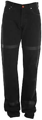 Heron Preston Men's Tape Relax-Fit Jeans