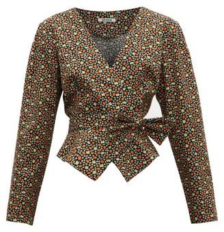 Batsheva Strawberry Print Cotton Wrap Jacket - Womens - Multi