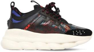 Versace 40mm Chain Reaction Snake Print Sneakers