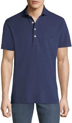 Ralph Lauren Men's 5-Button Polo Shirt with Pocket