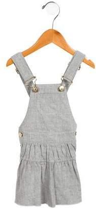 Chloé Girls' Knit Overall Dress