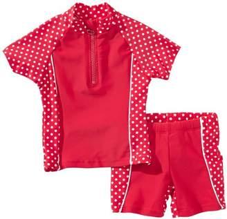 Playshoes Girl's Uv Sun Protection 2 Piece Polka Dot Swim Set, Swimsuit