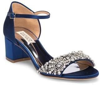 Badgley Mischka Mareva Ankle Strap Block Heel Sandal