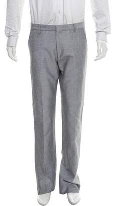 Calvin Klein Collection Linen-Blend Flat Front Pants