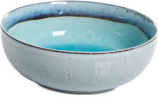 Gibson Reactive Glaze Turquoise Cereal Bowl, Created for Macy's
