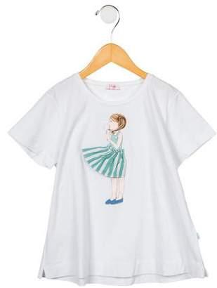 Il Gufo Girls' Embellished Short Sleeve T-Shirt