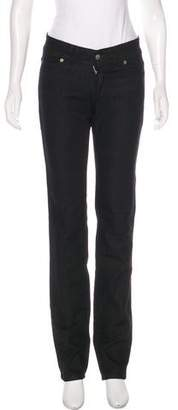 Galliano Mid-Rise Straight-Leg Jeans