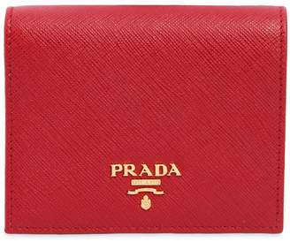 Prada Small Saffiano Leather Snap Wallet
