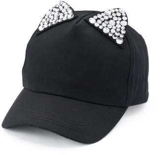 Chaps Women's Bling Cat Ears Baseball Cap