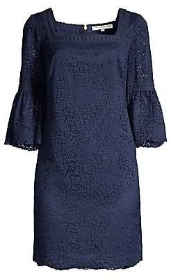 Trina Turk Women's Shangri La Lace Bell-Sleeve Shift Dress - Size 0
