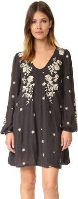 Free People Sweet Tennessee Embroidered Mini Dress $148 thestylecure.com