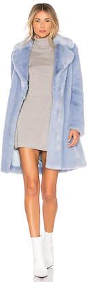 Lovers + Friends Romy Faux Fur Coat