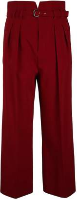 RED Valentino Belted Straight Cropped Trousers