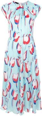 Emporio Armani abstract print midi dress