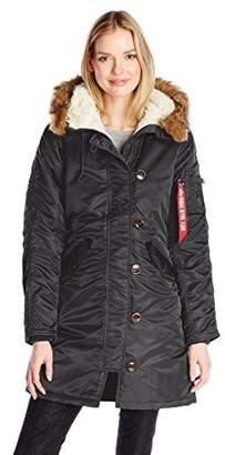 Alpha Industries Women's Elyse Parka Coat $225 thestylecure.com