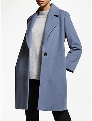 John Lewis & Partners Soft Shoulder Revere Collar Coat