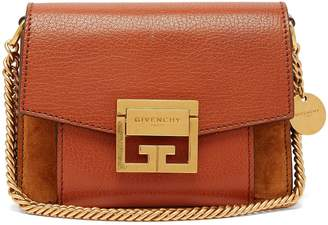 Givenchy GV3 small suede and leather cross-body bag