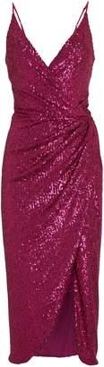 Jonathan Simkhai Draped Sequin Slip Dress
