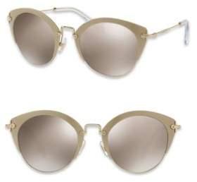 Miu Miu 52MM Mirrored Phantos Sunglasses